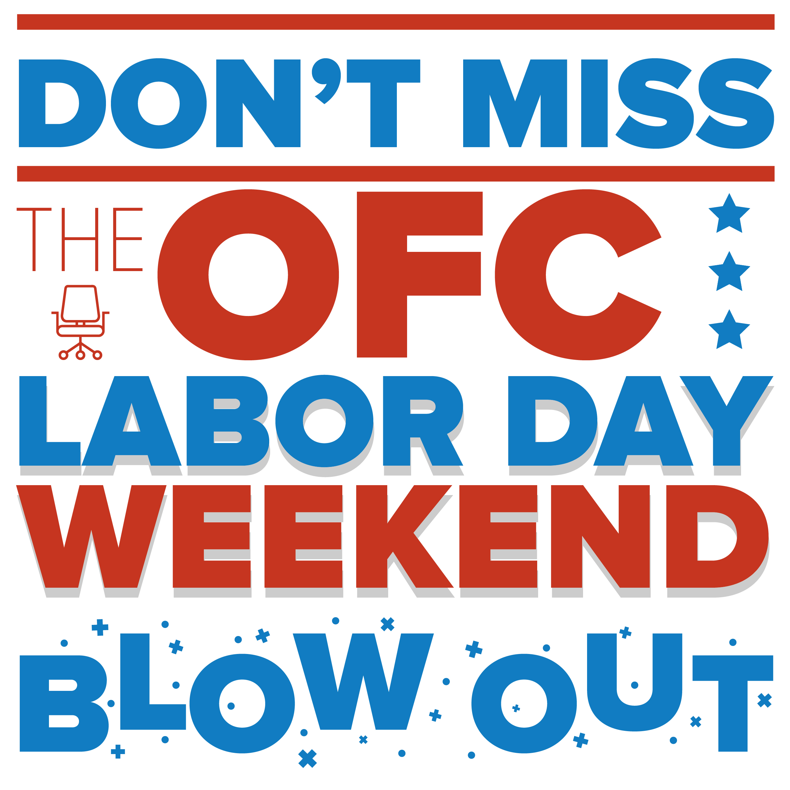 Four ways to celebrate labor day in your office office for Labor day weekend furniture sales
