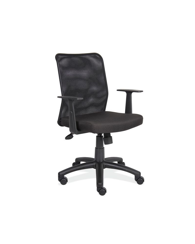 Mesh Back Cushion.Pneumatic Seat Height adjustment.Spring Tilt mechanism with tilt lock and tilt tension.Fixed Arms.This product is brand new and shipped directly to you from the manufacturers warehouse.