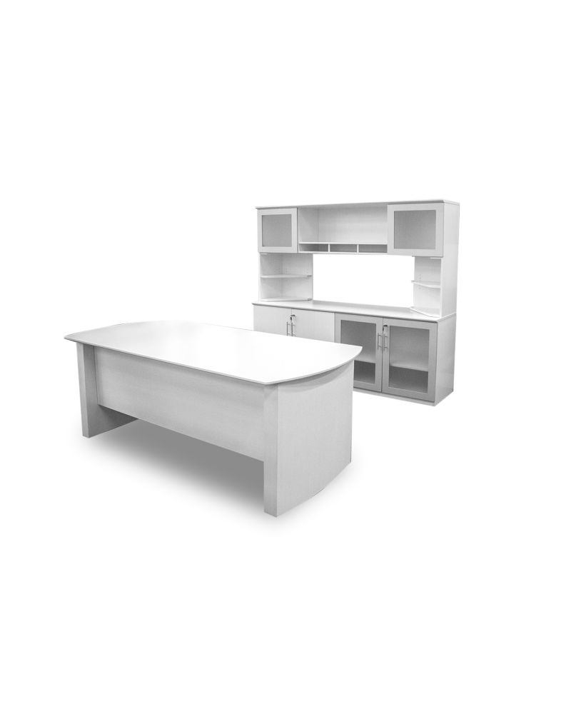 Mayline Medina Desk + Credenza (Textured Sea Salt)