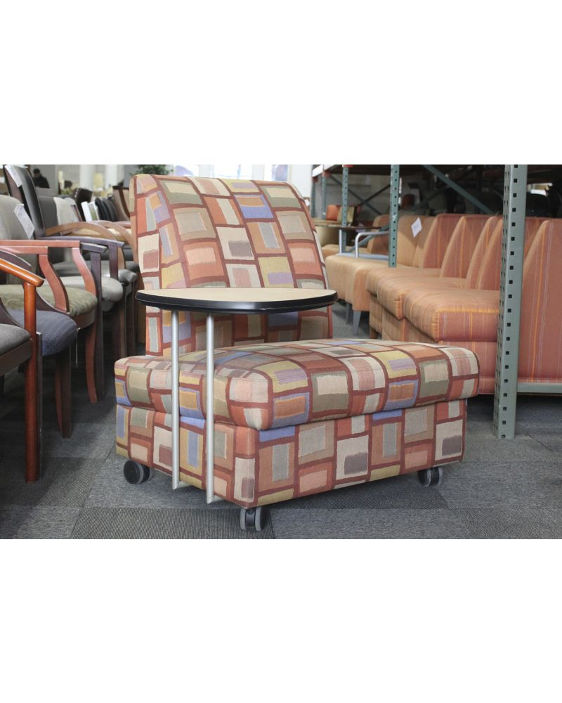 Metro Mobile Tablet Arm Lounge Chair (Orange Squares)