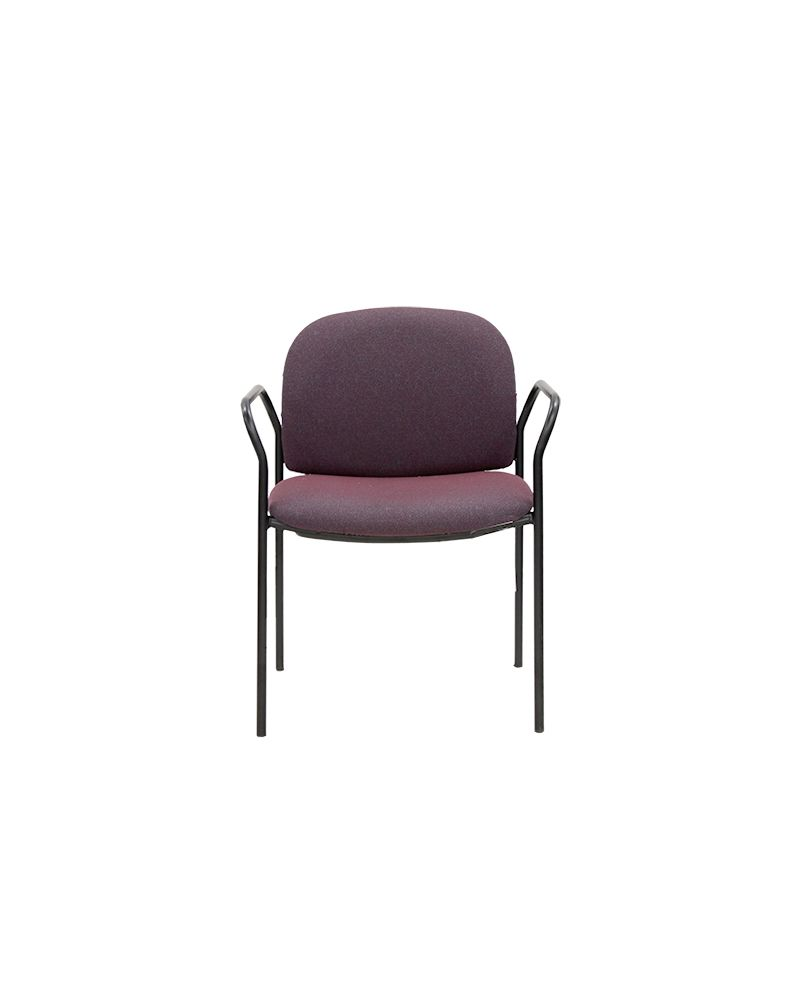 HON 4051 Stack Chair (Burgundy Patterned)