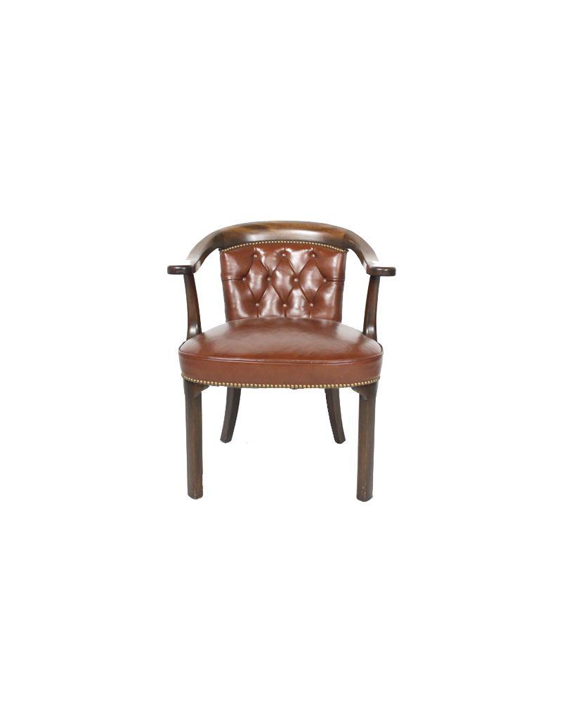 Oak Wood Side (Caramel Leather)