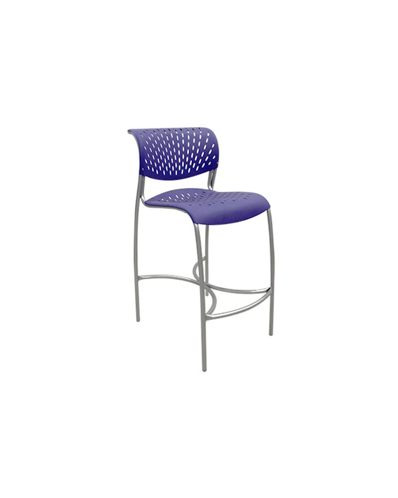 Izzy Hannah Cafe-Height Stool (Purple Martin)