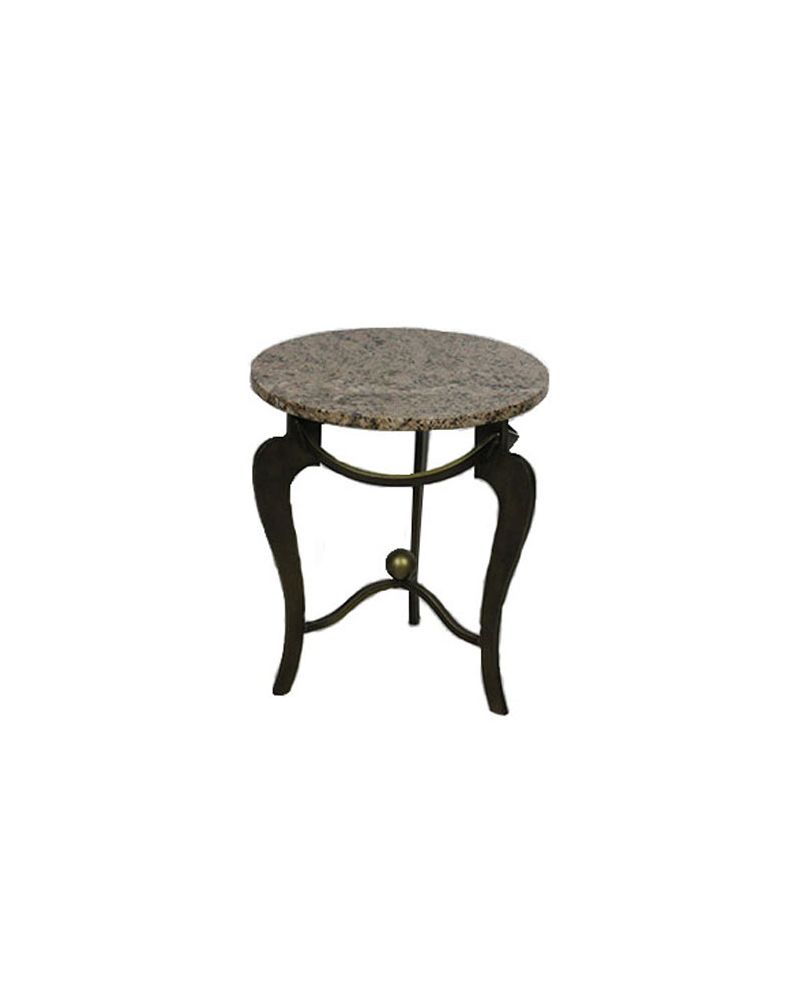"""18"""" Pink Granite Round Side Table"""