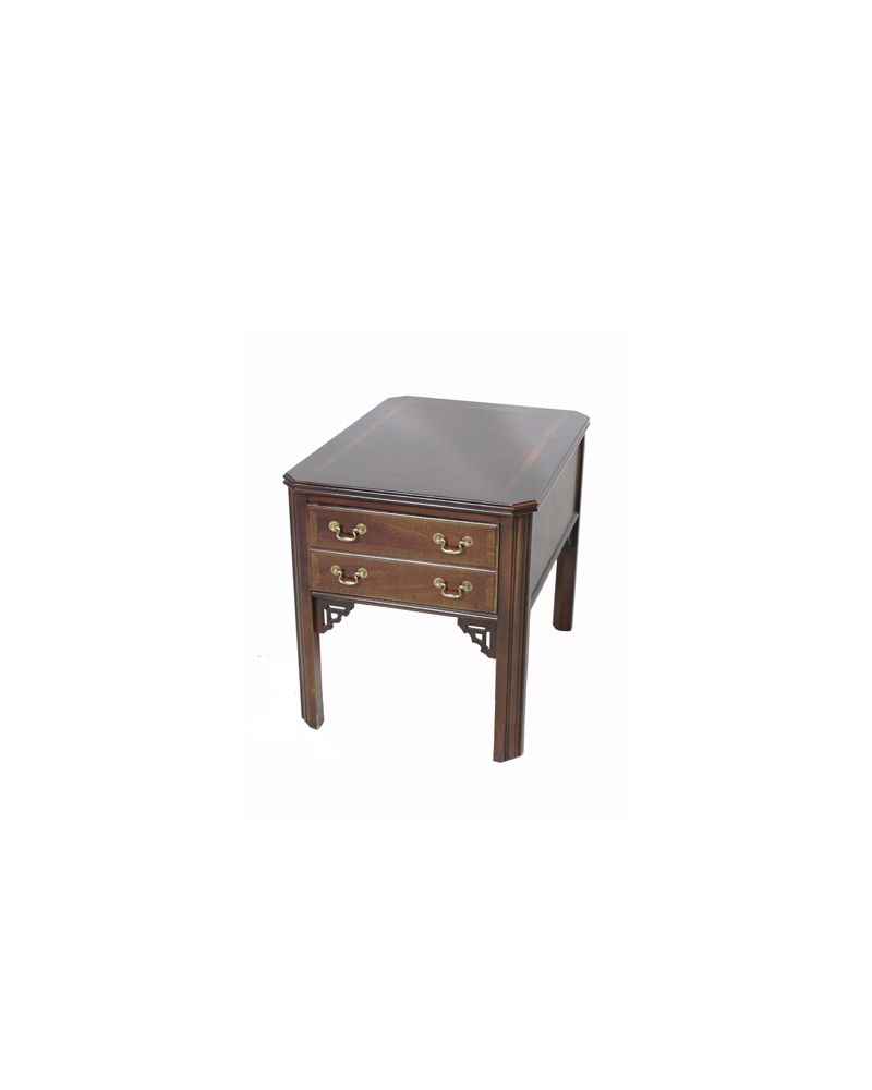 "Lane 27"" Mahogany Veneer Rectangular Side Table"