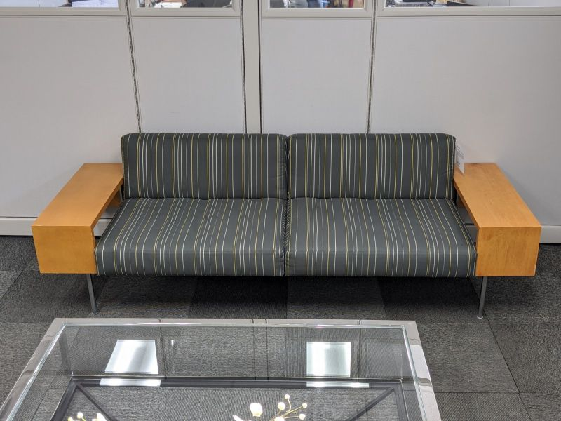 "94"" Modern Sofa (Striped)"