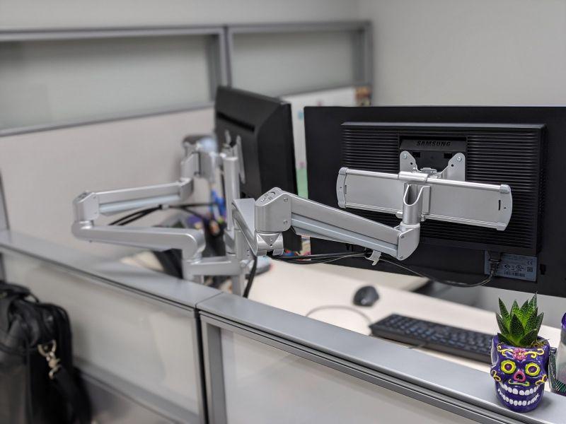 New ESI Ergo EDGE2 dual monitor arm