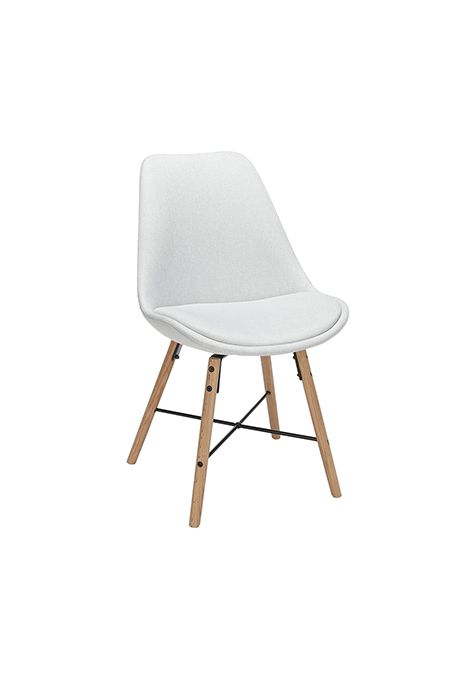 OFM Mid Century Modern Fabric Dining Chair with Wire Accents (Light Grey) (Set Of 2)