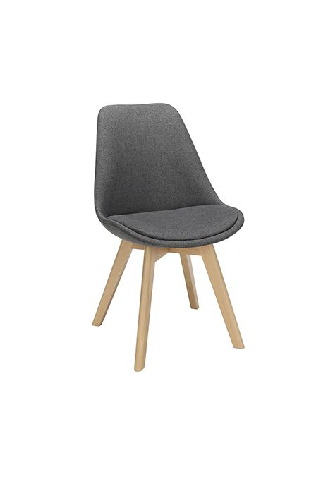 OFM 161 Collection Mid Century Modern Fabric Dining Chair (Dark Grey) (Set of 2)