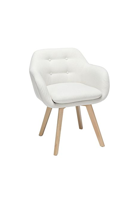 OFM 161 Collection Mid Century Modern Tufted Fabric Arm Chair (Beige) (Set of 2)
