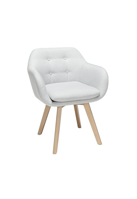 OFM 161 Collection Mid Century Modern Tufted Fabric Arm Chair (Light Grey) (Set of 2)