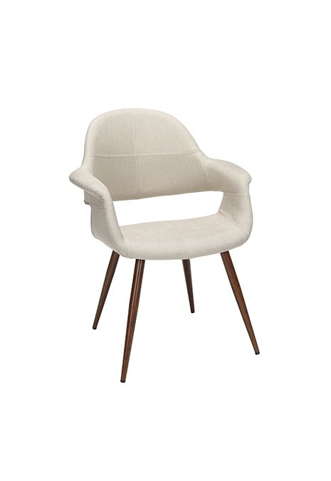 OFM 161 Collection Mid Century Modern Fabric Dining Chair (Beige) (Set of 2)