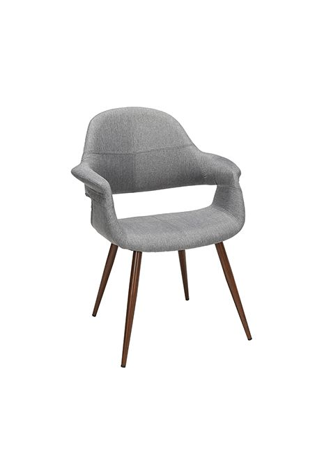 OFM 161 Collection Mid Century Modern Fabric Dining Chair (Gray) (Set of 2)