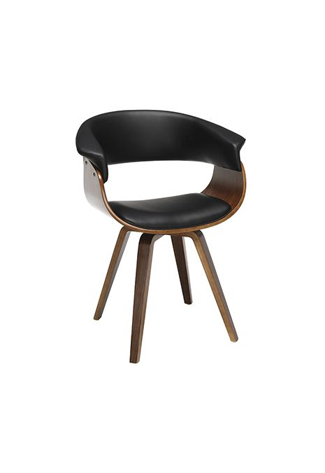 OFM 161 Collection Mid Century Modern Bentwood Frame Dining Chair (Black)