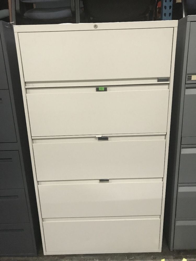 """Steelcase 5H 36""""W Lateral File (Beige)"""