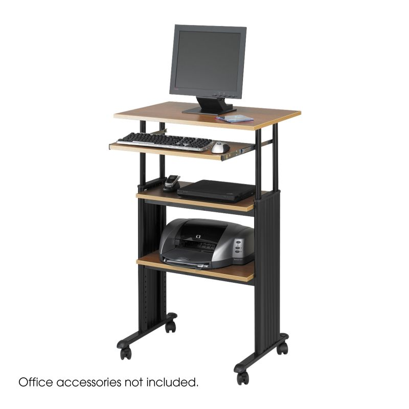 Safco Muv Stand-up Adjustable Height Desk (Medium Oak)