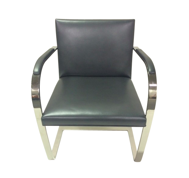Knoll BRNO Barstock Side Chair (Slate Leather)