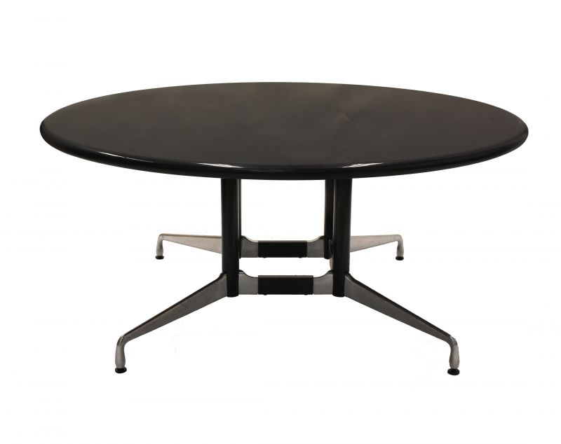 5.5' Herman Miller Black Granite Round Conference Table