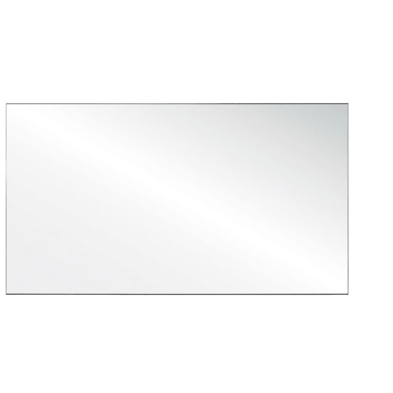 """Office Source 24""""H Straight Edge Clear Acrylic Screen"""