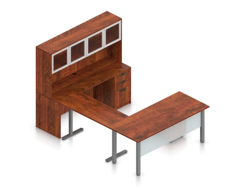 Offices to Go U-Shaped Desk with Height Adjustable Return