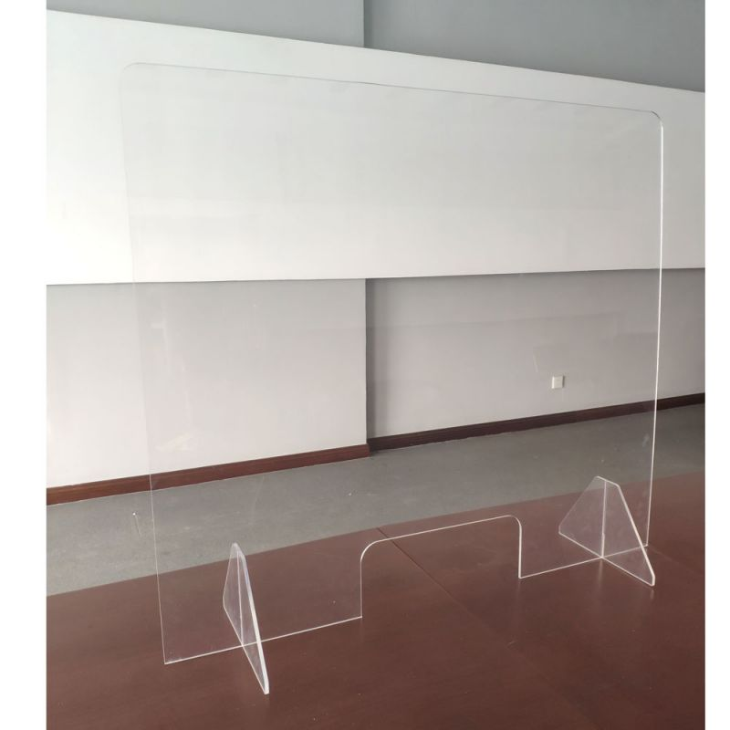 Office Source All Acrylic Desk Top Screen with Transaction Space