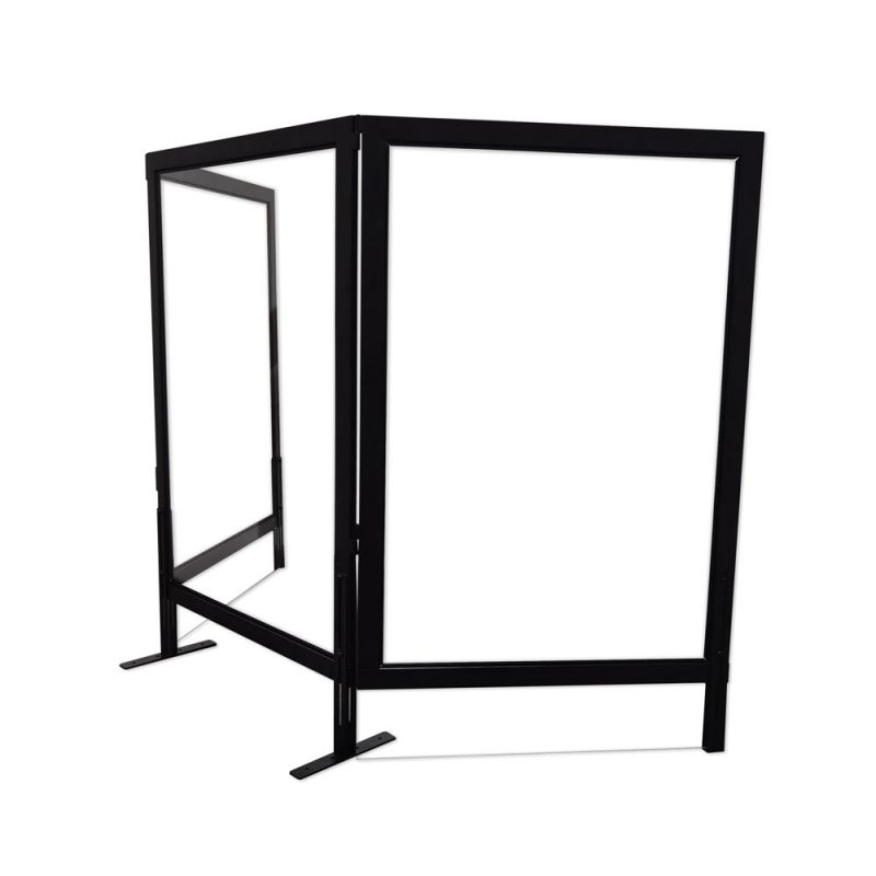 Office Source Optional Clear Acrylic Side Panel with Black Frame