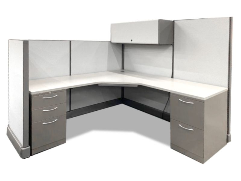 "Refreshed Herman Miller AO2 Workstation (6'W x 6'D x 67""H/53""H)"
