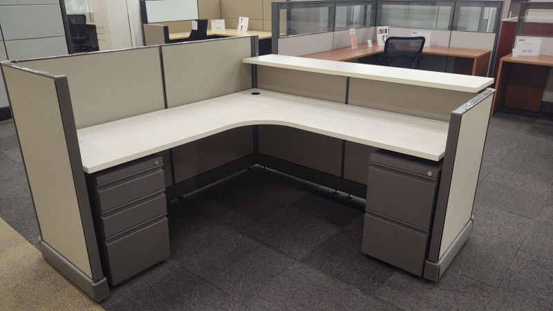 "ReNewed Herman Miller AO2 Workstation (6'W x 6'D x 47/39""H)"