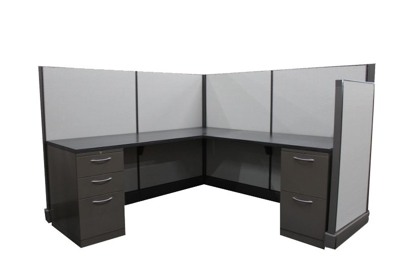 "Refreshed Herman Miller AO2 Workstation (6'D x 6'W x 47""/53""H)"
