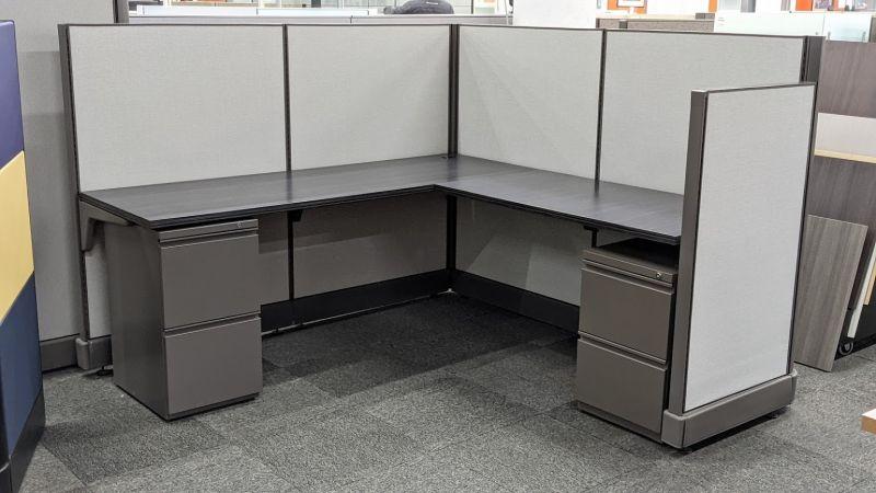"Refreshed Herman Miller AO2 Workstation (6'D x 6'W x 47""/53""H)"