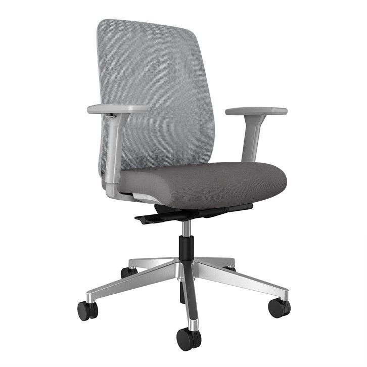 AIS Bolton Mid Back Grey Task Chair