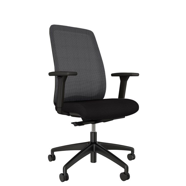 AIS Bolton High Back Black Task Chair