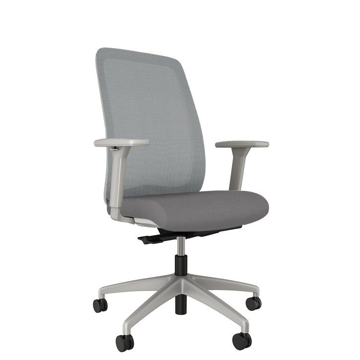 AIS Bolton High Back Grey Task Chair