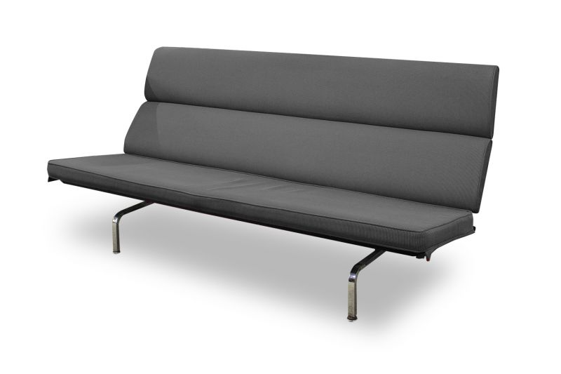 6' Herman Miller Eames Sofa Compact (Black)