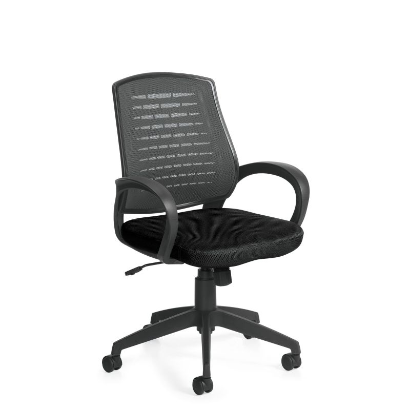 Offices to Go Black High Mesh Back Tilter Conference Chair