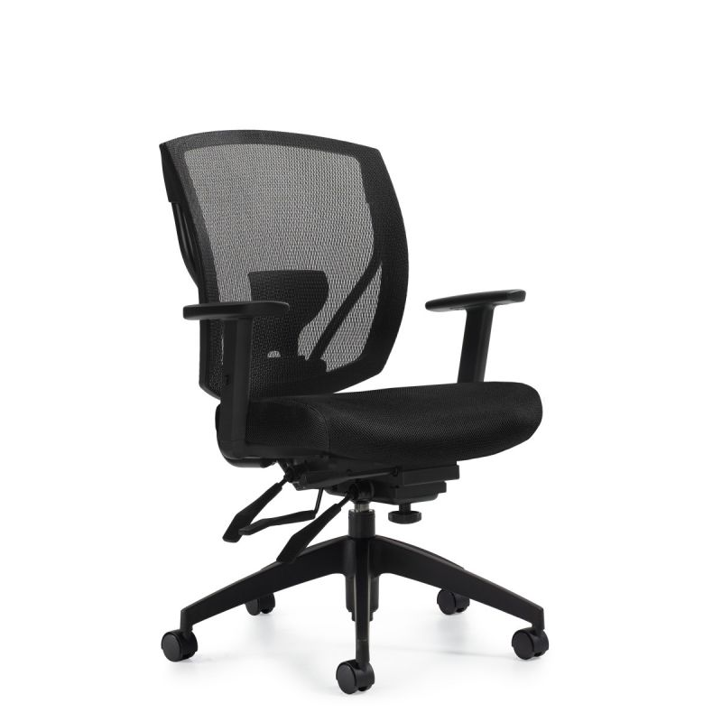 Black Mesh Multi-Function Task Chair