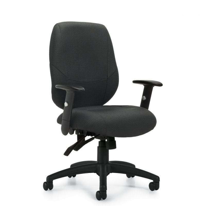 Offices to Go Black Multi-Function Task Chair