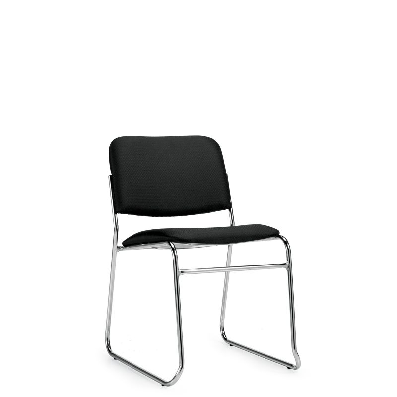 Offices to Go Fabric Armless Stack Chair