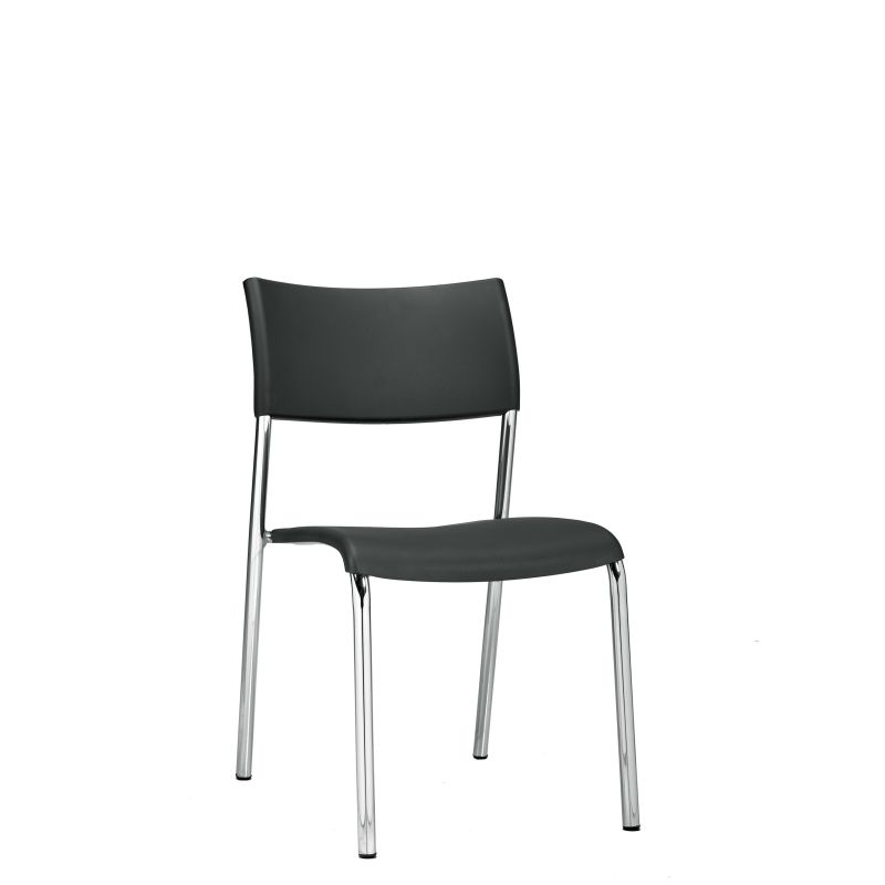 Offices to Go Armless Plastic Stack Chair