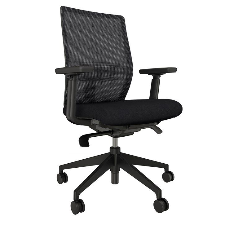 AIS Devens Black Task Chair