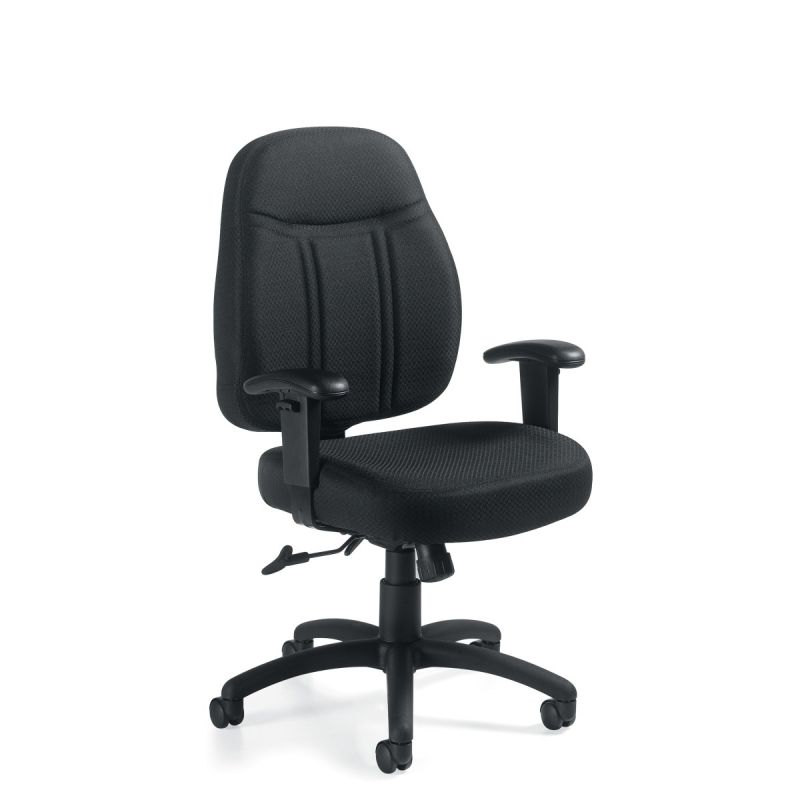 Offices to Go Black Low Back Tilter Task Chair