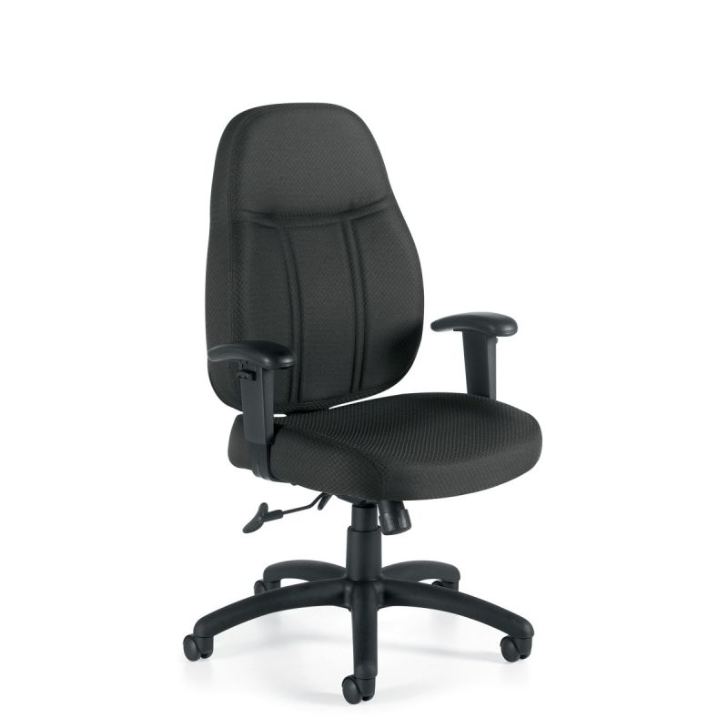 Offices to Go Black High Back Tilter Task Chair