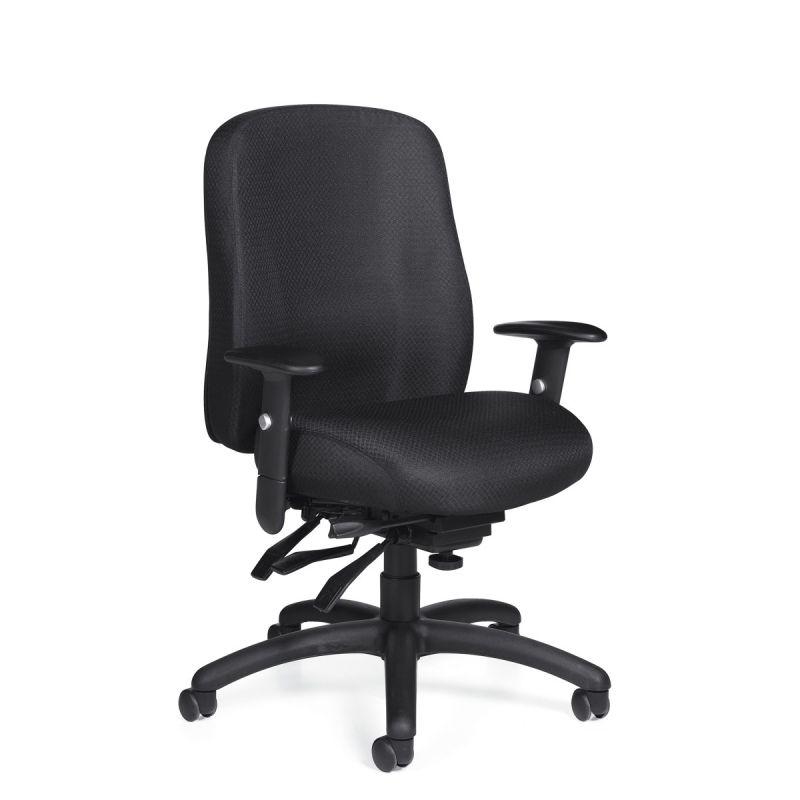 Offices to Go Black Multi-Function Task Chair with Forward Tilt Control
