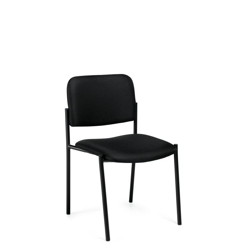 Offices to Go Rounded Back Armless Stack Chair