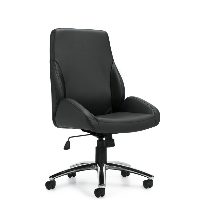 Offices to Go Black Specialty Luxhide Tilter Conference Chair