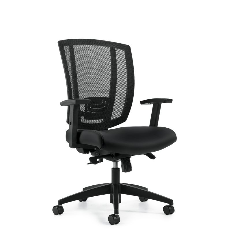 Black Mesh Back Synchro-Tilter Task Chair