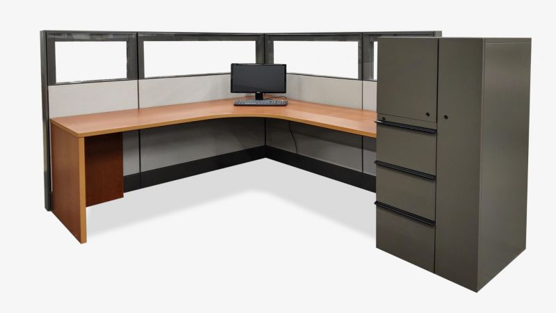 "Pre-Owned Herman Miller Ethospace Workstation (6'D x 8'W x 54""H)"
