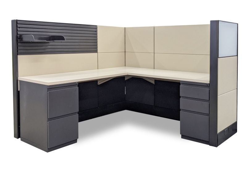 "Refurbished Herman Miller Ethospace Workstation (6'D x 6'W x 54""H)"