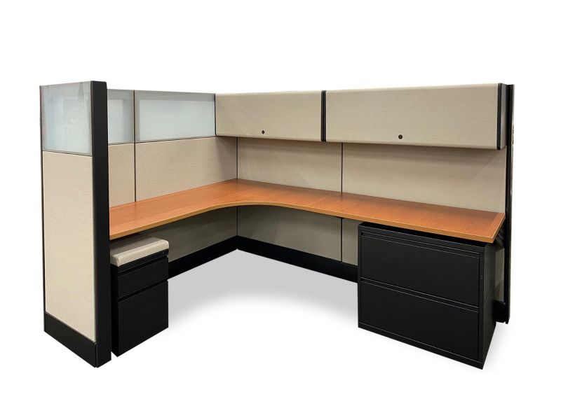 "Refreshed Herman Miller Ethospace Workstation (6'Dx8'Wx62""H)"