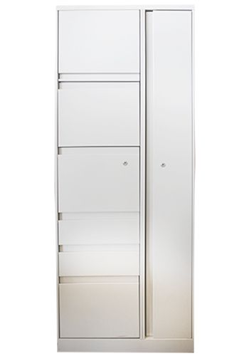 Steelcase 900 Series Wardrobe Tower LH (Cream)